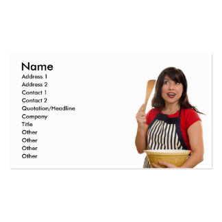 Lady with Bowl Business Cards