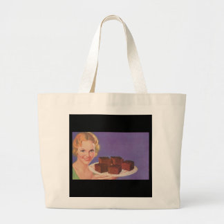 lady with brownie ad bag