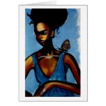 Lady With Butterfly Cards