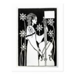 Lady with Cello, from 'Le Morte d'Arthur'`(litho) Postcard