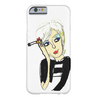 Lady with Cigarette (iPhone 6) Barely There iPhone 6 Case