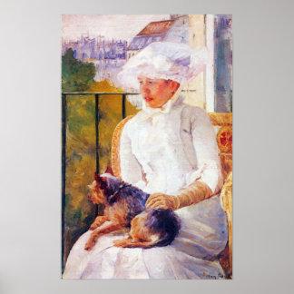 Lady with dog by Mary Stevenson Cassatt Print
