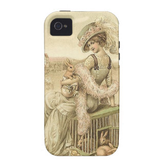 Lady with eggs and rabbits iPhone 4/4S cover