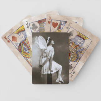 Lady with Faerie Wings Vintage Photo Bicycle Cards Bicycle Playing Cards