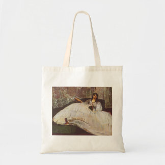Lady with fan by Edouard Manet Canvas Bag