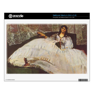 Lady with fan by Edouard Manet Decal For Medium Netbook