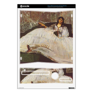 Lady with fan by Edouard Manet Skin For Xbox 360 S