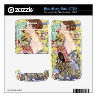Lady with fan by Gustav Klimt Decal For BlackBerry Bold