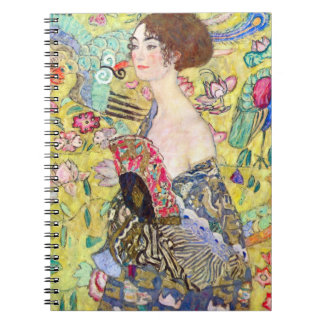Lady with Fan by Gustav Klimt, Vintage Japonism Notebook
