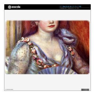 Lady with fan by Pierre Renoir Skins For MacBook