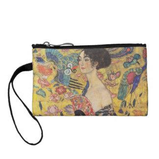 Lady with Fan - Gustav Klimt Coin Wallet