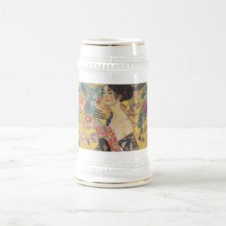 Lady with Fan - Gustav Klimt Beer Stein