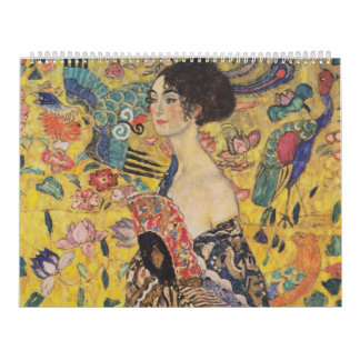 Lady with Fan - Gustav Klimt Calendar