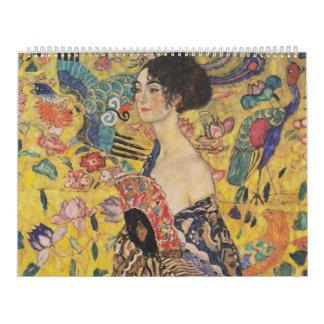 Lady with Fan - Gustav Klimt Calendar
