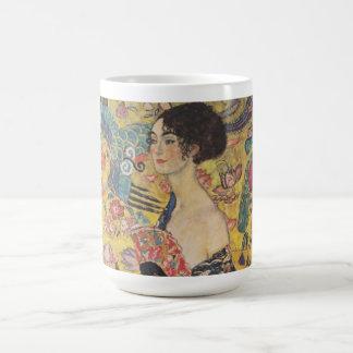 Lady with Fan - Gustav Klimt Coffee Mug