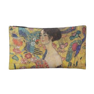 Lady with Fan - Gustav Klimt Makeup Bag