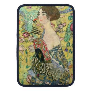 Lady with Fan - Gustav Klimt Sleeve For MacBook Air