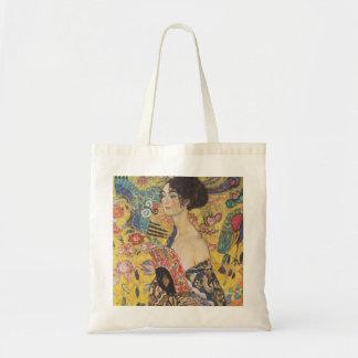 Lady with Fan - Gustav Klimt Tote Bag
