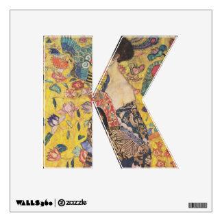 Lady with Fan - Gustav Klimt Wall Sticker