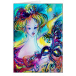 LADY WITH FEATHERED MASQUERADE MASK  Birthday Greeting Cards