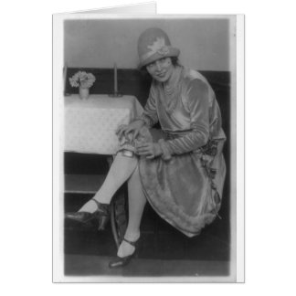 Lady With Flask 1926 Greeting Card