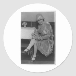Lady With Flask 1926 Round Stickers