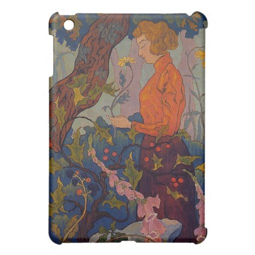 Lady with Foxgloves iPad Mini Covers