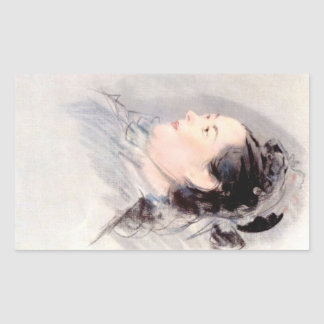 Lady with Hair Up by Edouard Manet Rectangle Sticker