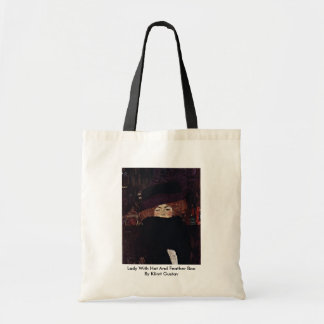 Lady With Hat And Feather Boa By Klimt Gustav Bags