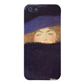 Lady with Hat and Feather Boa - Gustav Klimt Cover For iPhone SE/5/5s
