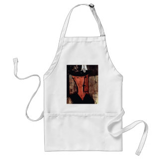 Lady With Hat by Amedeo Modigliani Apron