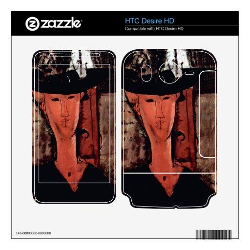 Lady With Hat by Amedeo Modigliani HTC Desire HD Skin