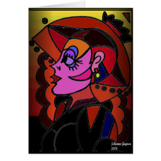 Lady with Hat Card