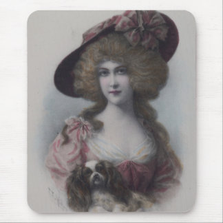 Lady with her Cavalier Mouse Pad