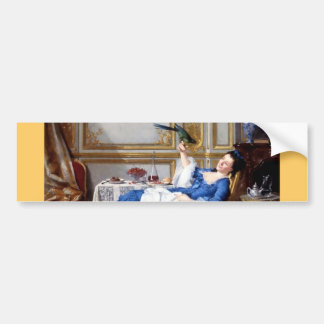 Lady with her Pet Bird antique painting Bumper Sticker