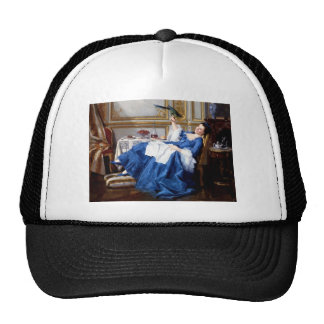 Lady with her Pet Bird antique painting Trucker Hat