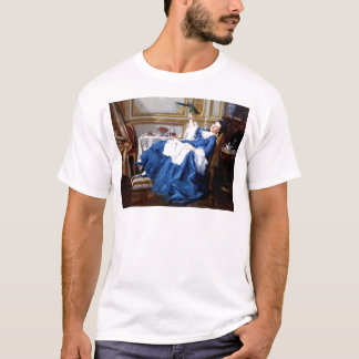 Lady with her Pet Bird antique painting T-Shirt