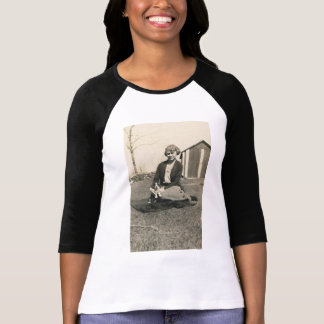 lady with little dog shirt