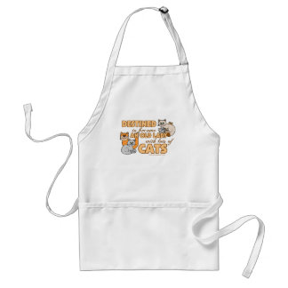 Lady With Lots of Cats Adult Apron