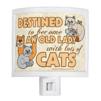 Lady With Lots of Cats Night Lite