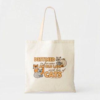 Lady With Lots of Cats Tote Bag
