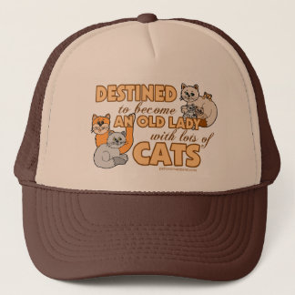 Lady With Lots of Cats Trucker Hat