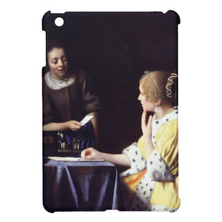 Lady with Maidservant Holding Letter by Vermeer Cover For The iPad Mini