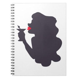 LADY WITH MARTINI NOTE BOOK