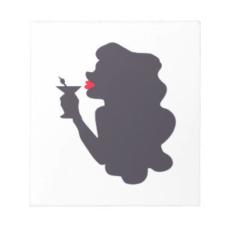 LADY WITH MARTINI MEMO NOTEPAD