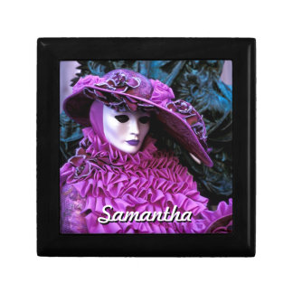Lady With Purple Costume and White Mask Gift Box