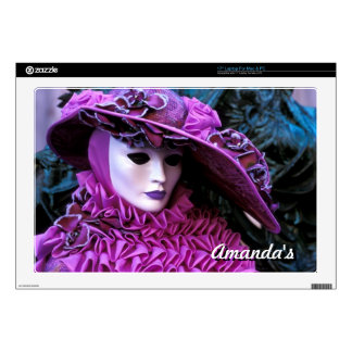 """Lady With Purple Costume and White Mask Skin For 17"""" Laptop"""