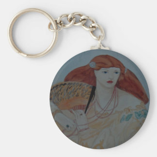 Lady With Red Hair Keychain
