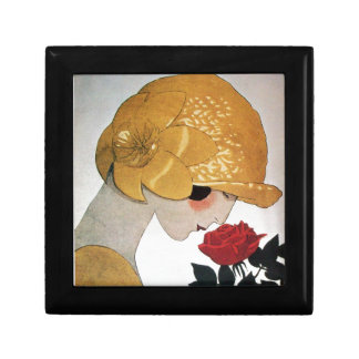 LADY WITH RED ROSE GIFT BOX