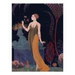 Lady with rose by George Barbier 1914 Posters